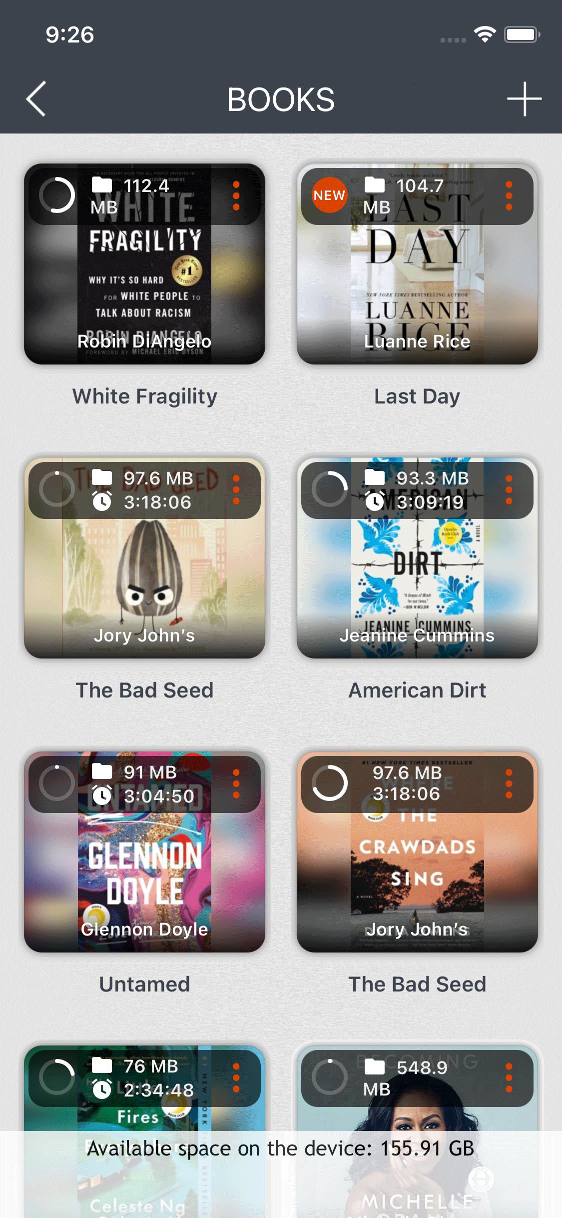 Import audiobooks